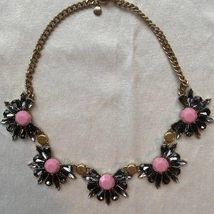 JCrew Adjustable Dark Gray/Pink Statement Necklace